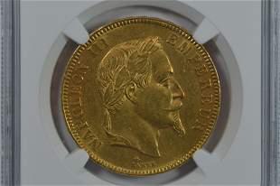 France 1869-A Gold 100 Francs