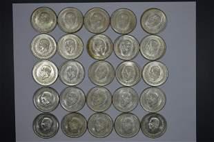 Mexico 1951-1953 Silver Five Pesos Stash