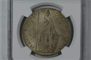 Peru 1855 LIMA MB Silver 8 Reales