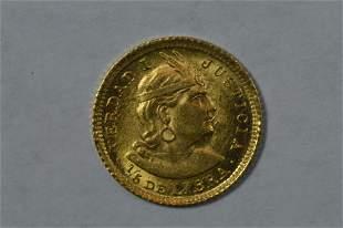 Peru 1911 GOZG Gold 1/5 Libra
