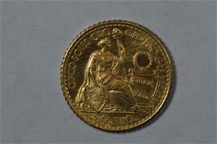 Peru 1960 Gold 5 Soles