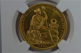 Peru 1951 Gold 50 Soles