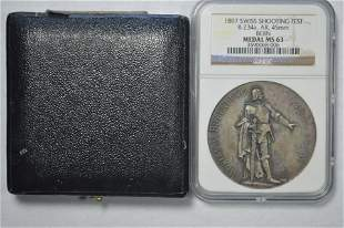 Switzerland, Bern. 1897 Shooting Festival Medal. Silver