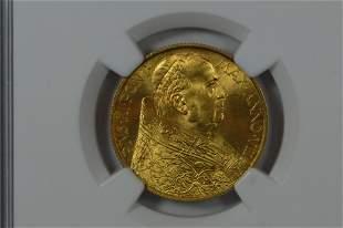 Vatican City. 1929 VIII Gold 100 Lire