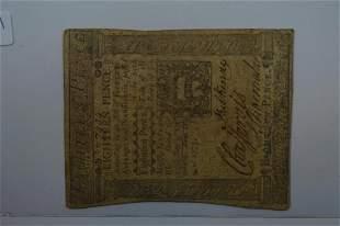 U.S. Colonial Currency, Pennsylvania. Eighteen Pence