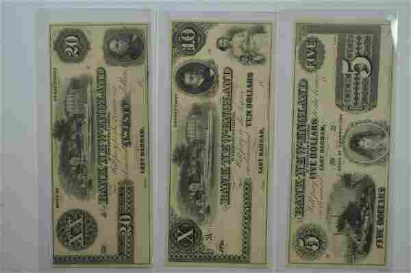 A Circa 1859 Obsolete Currency Quintet