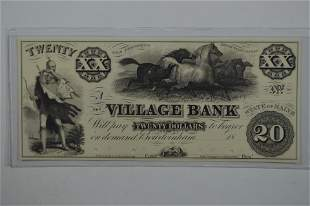 A Very Scarce Obsolete Banknote Proof.
