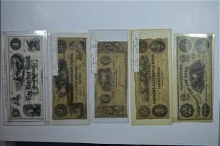 An Obsolete Banknote Quintet