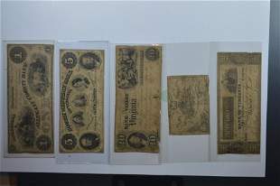 A Circa 1860 Mostly Southern Obsolete Banknote