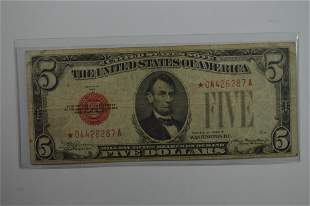$5.00 Legal Tender Star Note.