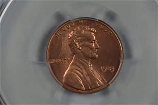 U.S. Mint Error. 1c 1983 Doubled Die Reverse.