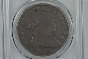 $1.00 Silver 1801 (BB-213, B-3). PCGS VG Detail