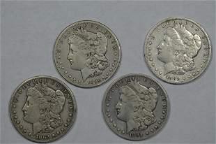 A Quartet of Different Date Carson City Mint Morgan