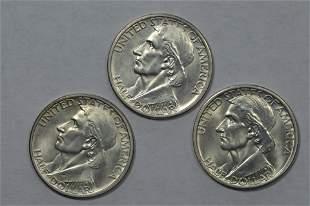 50c Commemoratives. 1935-P,D,S Small 1934 Boone Set.
