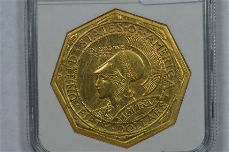 $50.00 Gold Commemorative. 1915-S Panama-Pacific