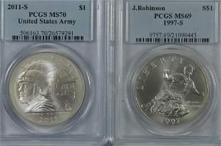 Certified Modern Commemorative Silver Dollars