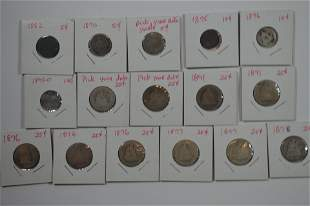Grouping of Cull and/or Low Grade Mostly Liberty Seated