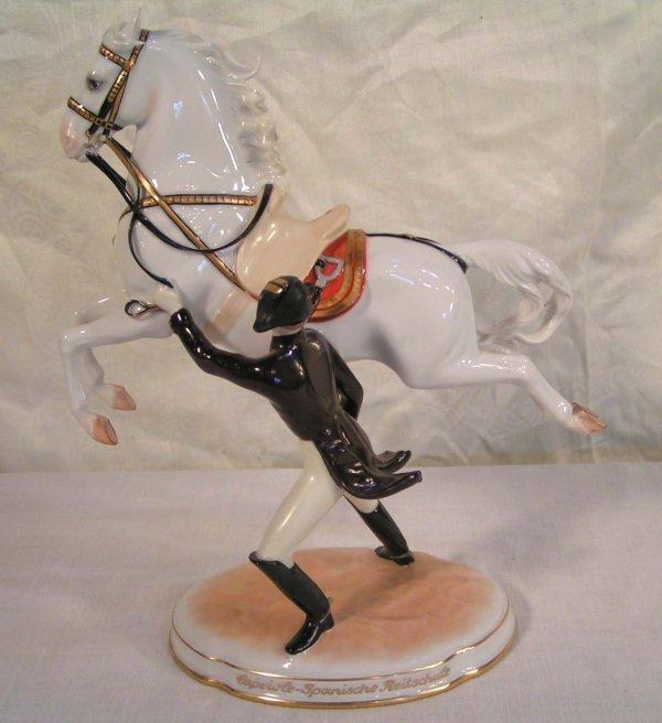 1: Austrian porcelain figure of Napoleon and his horse