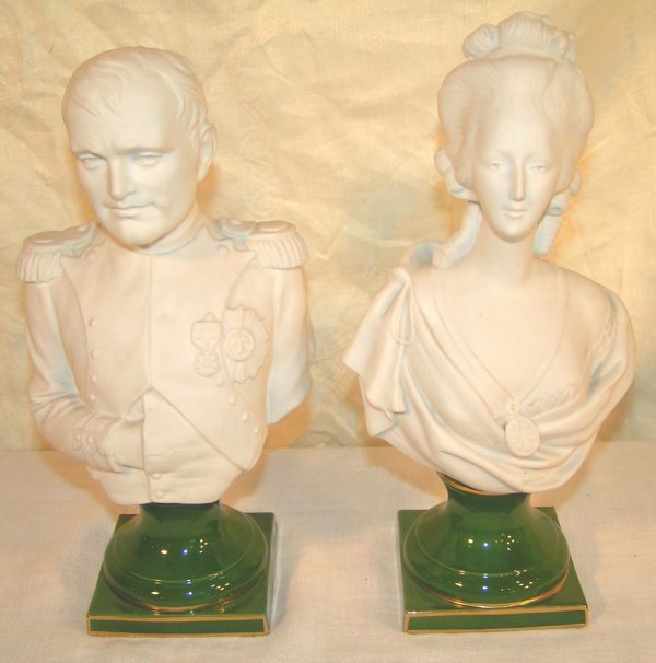 3: pair of porcelain busts of napoleon and josephine 11