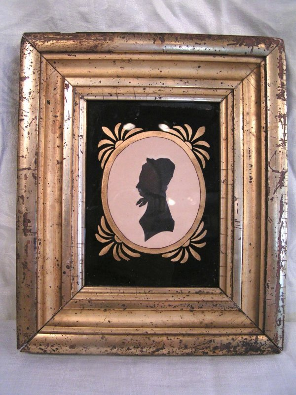 5: 2 early american sillouettes frame size 8 x 10 image