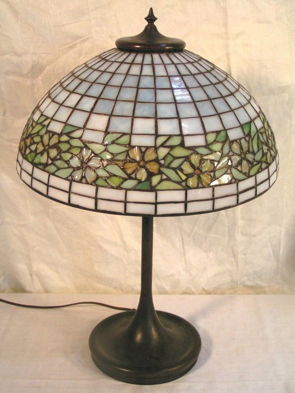 6: early 20th century handel or unique leaded lamp in a