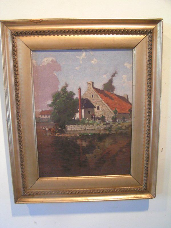 164: oil painting signed c laser (charles) oil on canva