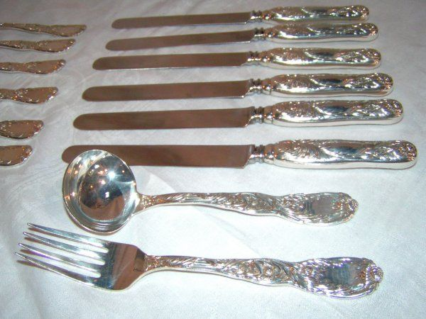 165: set of tiffany and co chrysanthemum sterling silve