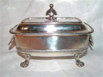 170: important coin silver covered bowl signed moulton(