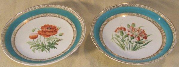 5: pair of Paris porcelain hand painted compotes
