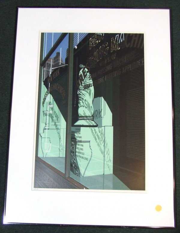 18: Richard Estes signed and numbered screenprint of a