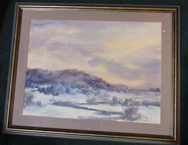 20: Robert Calrow signed watercolor image size 17 x 23