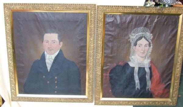 50: Important folk art portraits by John Brewster Jr. T