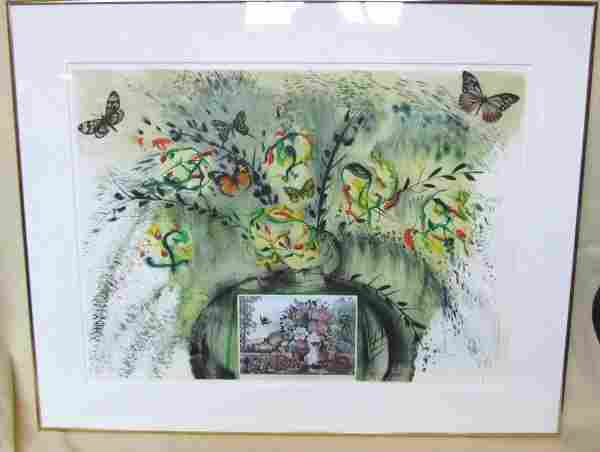 53: Salvador Dali signed and #ed 218/250 lithograph fro