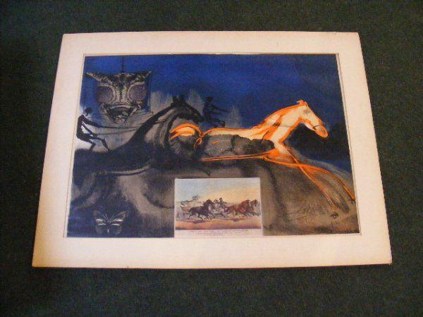 55: Salvador Dali pencil signed and #ed 88/250 lithogra