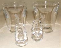 257 Steuben crystal 4 pc 2 inch large tumble