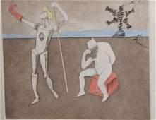 "315: Salvador Dali Pencil signed lithograph ""the power"