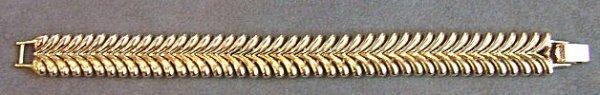 11: 14K gold bracelet, excellent condition.  Measures 7