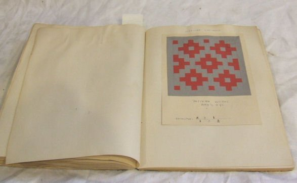 """303: Book of Shaker sewing samples, 10.25"""" X 7.5"""".  Sho"""