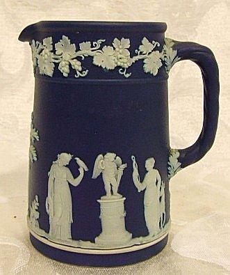 "401: Wedgwood dip cream pitcher, marked ""Wedgwood Made"