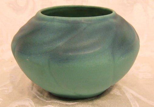 """406: Van Briggle art pottery bowl, 4"""" high, 6"""" wide. No"""