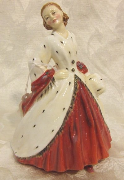 """421: Royal Doulton figurine """"The Ermine Coat"""" 1981, in"""