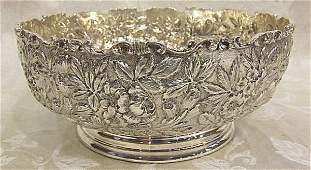 450: Beautiful Kirk & Son repousse sterling silver bowl