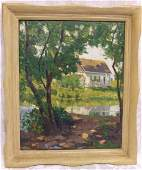 710 Emile Stange impressionist oil painting on artist