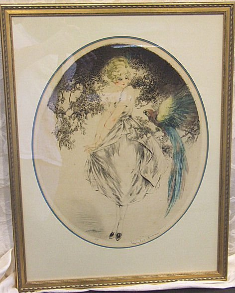 743: Louis Icart print, original, signed in pencil. Cop