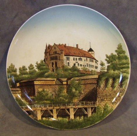 """6: Mettlach wall plaque 1044/128, Nurnberg Schloss, 12"""""""