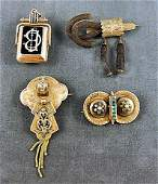 41 Victorian gold lot including watch fob w locket