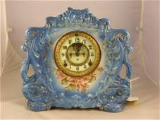 271 Ansonia china cased mantel clock open escapement