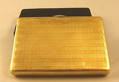 18: 14K yellow gold Russian box, early 20th C., finely