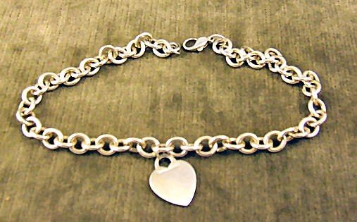 """1: Heavy Tiffany & Co. sterling silver 15"""" chain with h"""