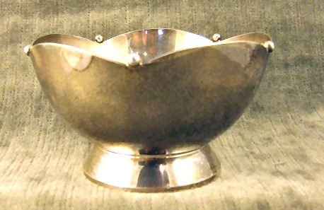 """2: Cartier sterling silver bowl, 4"""" wide, 2.25"""" high, n"""